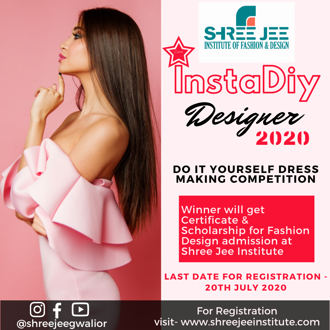 instadiy designer, instadiy designer 2020, dress making competition, shree jee institute gwalior,